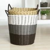 仿編織洗衣籃 髒衣服 收納籃 洗衣籃 籐編 髒衣籃 玩具籃 塑料桶 家用【Z102】♚MY COLOR♚