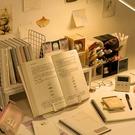讀書架 桌面閱讀架書架創意簡約閱讀書架小學生用桌上書夾書靠書立架【快速出貨八折搶購】