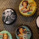 壁掛美式復古墻面鐵皮畫掛件創意個性酒吧餐...