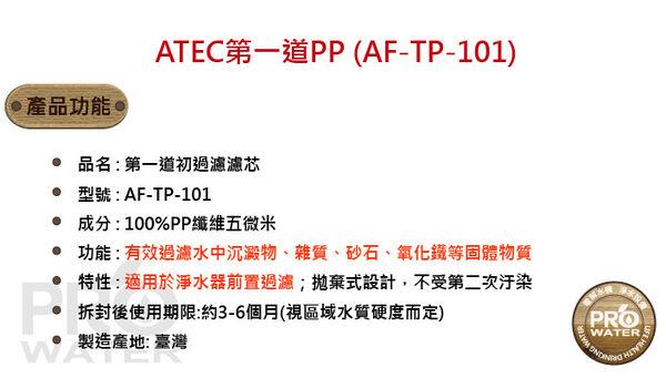 水達人ATEC 第一道初過濾濾芯(AF-TP-101抗菌PP)二入+第二道樹脂濾芯(AF-TR-101食品級樹脂濾芯)二入