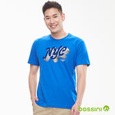 印花短袖T恤09藍-bossini男裝