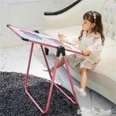 兒童畫板小黑板支架式家用畫架可升降雙面磁性涂鴉板寫字白板寶寶 igo「潔思米」