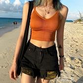 超短款吊帶背心女外穿內搭性感ins潮帶胸墊胸罩運動海邊美背文胸 雙十同慶 限時下殺