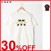 出清 印花 男T恤 3角棉片 粗棉節 免運費 日本品牌【coen】