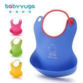 立體防水兒童吃飯兜嬰兒仿硅膠圍嘴寶寶圍兜口水巾寶寶食飯兜大號gogo購