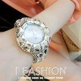 時尚韓國手錶女韓版時裝錶學生水鑽裝飾錶滿鑽女士石英錶 Ifashion