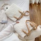 夏季手提包包新款潮時尚網紅單肩包大容量女包百搭蕾絲托特包 錢夫人小舖
