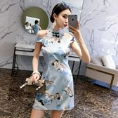 年輕小旗袍夏季中國風女裝連衣裙
