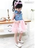 套裝女童夏款女寶寶小童6個月洋裝嬰幼兒公主裙子1-2歲夏裝蓬蓬紗裙