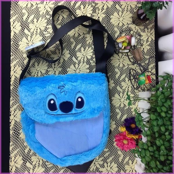 女衣迪士尼史迪奇絨毛造型書包側背包收納包女衣