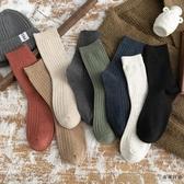 4雙裝 長筒襪子男中筒襪薄款透氣長襪純棉防臭吸汗【毒家貨源】