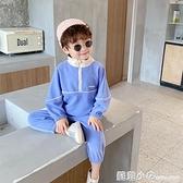 男童秋裝運動套裝2020新款寶寶時尚潮流兩件套中小童帥氣純色衣服 蘇菲小店