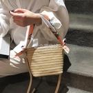 個性流行新款草編包編織絲巾手提包單肩編織女包挎包單肩包包【快速出貨】
