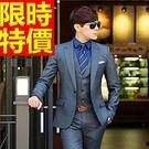 男款韓版西裝套裝別緻-熱賣簡單新款明星同款成套男西服3色54o6【巴黎精品】