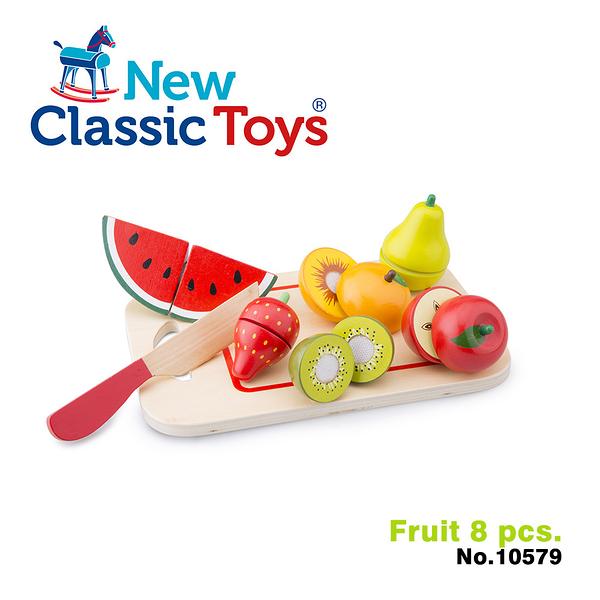 【荷蘭 New Classic Toys】水果總匯切切樂8件組 10579