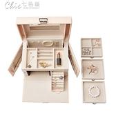 首飾盒 首飾盒公主歐式正韓飾品收納盒木質耳環收納盒結婚生日【快速出貨】YXS 【快速出貨】