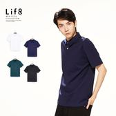 Life8-Formal 厚感超彈力 經典素面 POLO【11172】