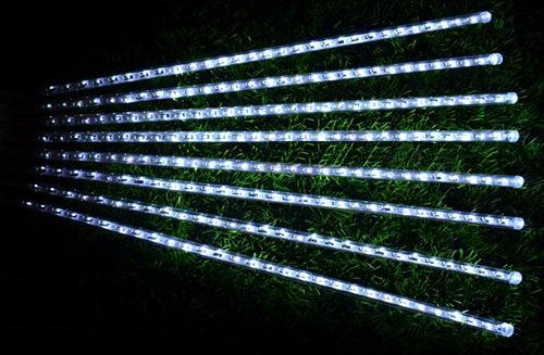 白光LED流星雨燈 (30CM/8條) ~ 聖誕燈、燈泡串、燈串、燈飾