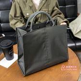 公事包 韓版單肩斜背文件袋氣質時尚商務手拎手提公文包女通勤包學生書袋 5色