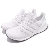 adidas 慢跑鞋 Ultra Boost 4.0 白 全白 運動鞋 頂級緩震舒適 運動鞋 男鞋【PUMP306】 BB6168