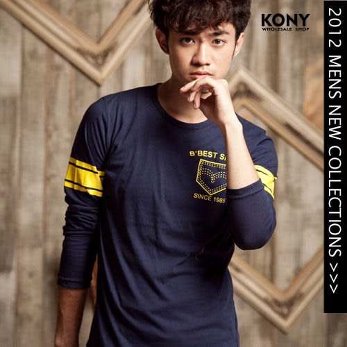 KONY【NN8469】 型男潮流嚴選美式風格圖案棉tee-現+預