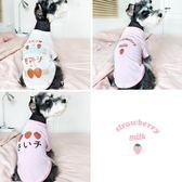 【週年度促銷】日系草莓比熊狗狗衣服夏裝泰迪薄款夏季貓咪衣服幼貓寵物