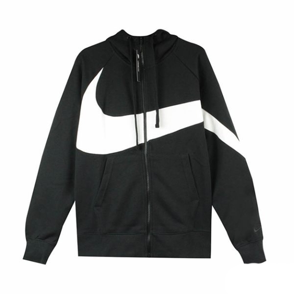 NIKE AS M NSW HBR HOODIE FZ FT STM 男款黑色連帽運動外套-NO.AR3085010