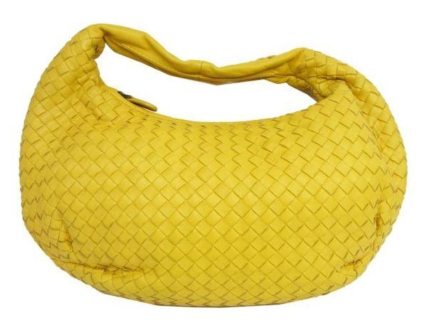 BOTTEGA VENETA 黃色羊皮編織手提/肩背包 Intrecciato【BRAND OFF】