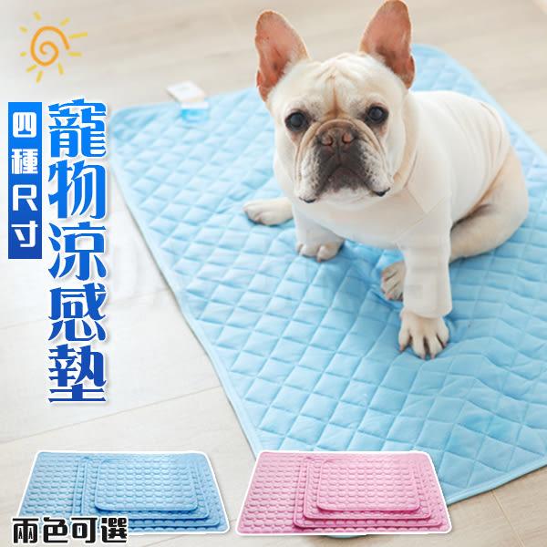 寵物涼感墊 多功能冰絲墊 降溫涼墊 寵物散熱墊 夏日降溫必備 藍色 S號(V50-2395)