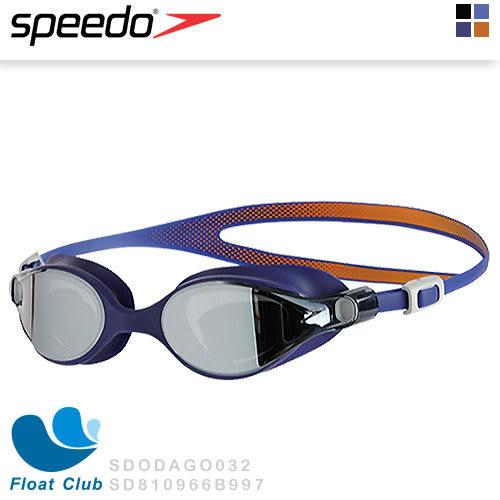 【Speedo】女性成人運動鏡面泳鏡 V-class Mirror (深藍) SD810966B997