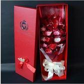 玫瑰香皂花束禮盒創意情人節禮品送女友送朋友生日禮物【21朵紅色】