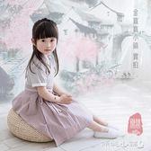 女童古裝 兒童漢服國學服女童改良古裝中國風連身裙漢服童裝女襦裙 傾城小鋪