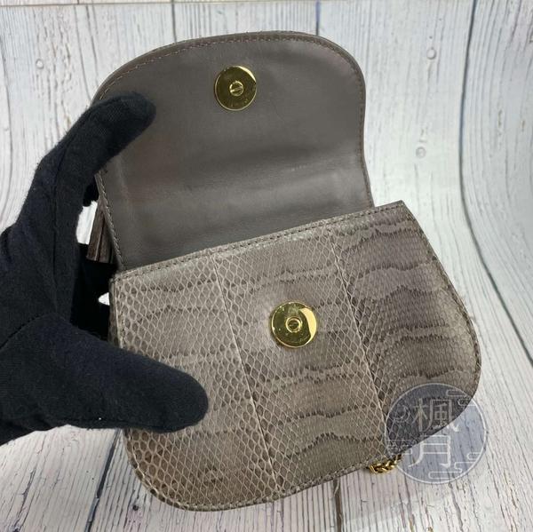 BRAND楓月 GUCCI 古馳 269969 蛇皮竹節把小鍊包 兩用包 手提包 肩背包 側背包 斜背包 鍊包 磁吸釦