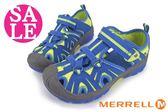 MERRELL 中童涼鞋  HYDRO水陸兩棲運動涼鞋 零碼出清 I6478#藍黃◆OSOME奧森童鞋