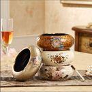 歐式煙灰缸陶瓷高檔復古時尚創意擺件現代簡約家居客廳裝飾工藝品