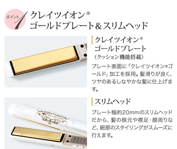 日本【Create Ion】五段調溫直髮離子夾 CIS-R01