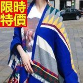羊毛披肩-俏麗民族風毛線保暖女圍巾63ag2[巴黎精品]