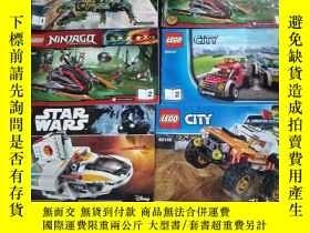 二手書博民逛書店LEGO(罕見樂高拼圖手冊,大32開,6本合售)Y10118