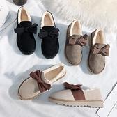 豆豆鞋 毛毛鞋女秋冬外穿厚底豆豆鞋一腳蹬雪地靴加絨家居棉鞋-Milano米蘭