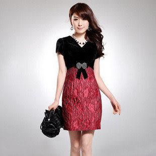 夏裝新款女裝熱賣 時尚高貴氣質短袖連衣裙 女