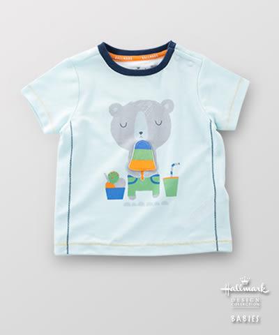 Hallmark Babies 男嬰兒春夏純棉休閒小熊短袖T恤上衣 HE1-N05-04-BB-NB