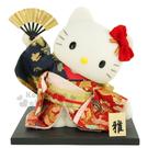 〔小禮堂〕Hello Kitty 傳統手工人形擺飾《紅.和服.舞姿.扇子》華貴典雅 4991567-96402