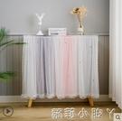 柜門魔術粘貼門簾遮擋布簾子開放式柜子防塵衣柜櫥柜書柜裝飾柜簾 蘿莉新品