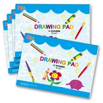 【美國ALEX】drawing-pad  台灣製造30頁圖畫紙 5本 /組