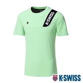 【超取】K-SWISS Contrast Panel Tee涼感排汗T恤-男-薄荷綠