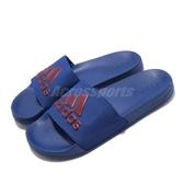 adidas 拖鞋 Adilette Shower Slides 藍 紅 男鞋 涼拖鞋 運動拖鞋 【PUMP306】 EE7041