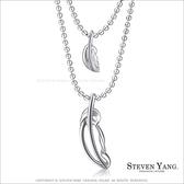 項鍊 正白K飾「熱帶雨林」雙鍊造型 甜美名媛風