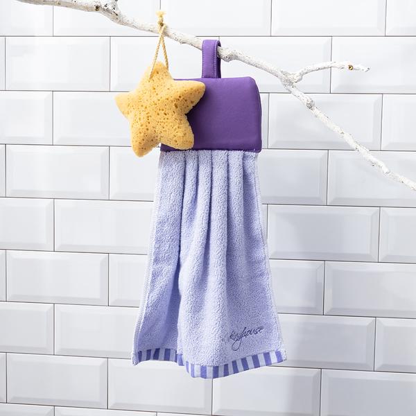 【店長超值推薦6折起】煦煦柔棉擦手巾-紫-生活工場