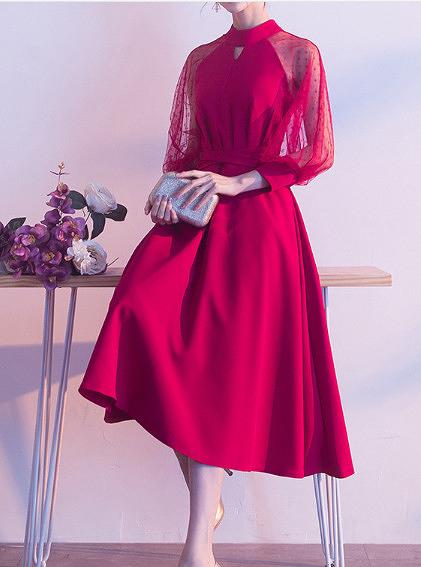 (45 Design) 洋裝禮服婚禮洋裝伴娘禮服洋裝小禮服中長禮服小洋裝蕾絲洋裝媽媽禮服9