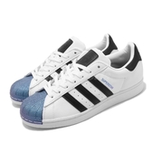 adidas 休閒鞋 Superstar 白 黑 藍紫炫光 貝殼頭 男鞋 【PUMP306】 FW6387